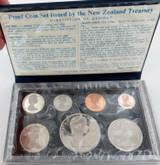1976 NEW ZEALAND ARMORIAL 7 COIN PROOF SET + ORIGINAL SLEEVE.