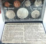 1977 NEW ZEALAND WAITANGI DAY 7 COIN PROOF SET + ORIGINAL SLEEVE.