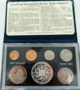 1974 NEW ZEALAND 7 COIN PROOF SET + ORIGINAL SLEEVE.