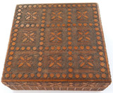 QUALITY VINTAGE VERY NICELY WORKED WOODEN TRINKET / CIGARETTE BOX.