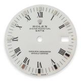 Authentic Rolex 15200 Date White Roman Steel Baton Tritium Dial