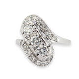 Vintage 0.69ct Brilliant Cut Diamond 9ct White Gold Ring Size N1/2 Val $3660