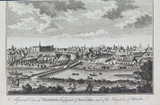 """RARE 1782 """"A GENERAL VIEW OF MADRID"""" ENGRAVED FOR MILLAR'S"""