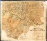 SUPER RARE 1909 HUGE NSW GOVERNMENT TOURIST BUREAU MAP OF THE BLUE MOUNTAINS