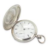 Antique 1868 Waltham Bartlett 11J Model 1857 Silver 18s Large Pocket Watch