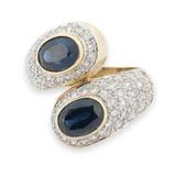 Aust Blue Sapphire & 0.68ct Diamond 14K Gold Cocktail Ring M1/2 Val $7070