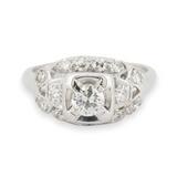 Vintage 18ct White Gold 0.55ct Brilliant Cut Diamond Cocktail Ring L Val $3970
