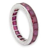 Vintage Tiffany & Co Platinum & 7.00ct Ruby Full Circle Ring Size K Val $18800