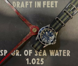 Vintage 1970s Tudor Submariner Snowflake Date Watch Blue Dial + Papers - 9411/0