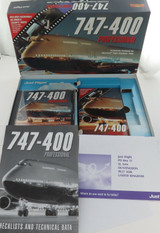 2000 JUST FLIGHT MICROSOFT 747-400 PROFESSIONAL FLIGHT SIMULATOR COMPLETE IN BOX