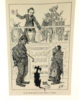 "RARE 1904 THE BULLETIN NEWSPAPER SYDNEY ""PHIL MAY IN AUSTRALIA"" LARGE CARTOON #5"