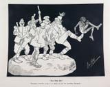 "RARE 1904 THE BULLETIN NEWSPAPER SYDNEY ""PHIL MAY IN AUSTRALIA"" LARGE CARTOON #3"