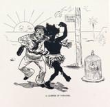 "RARE 1904 THE BULLETIN NEWSPAPER SYDNEY ""PHIL MAY IN AUSTRALIA"" LARGE CARTOON #6"
