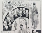 "RARE 1904 THE BULLETIN NEWSPAPER SYDNEY ""PHIL MAY IN AUSTRALIA"" LARGE CARTOON #7"