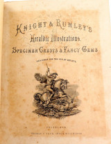 c1870 SUPER RARE KNIGHT & RUMLEYS HERALDIC ILLUSTRATIONS FOR THE USE OF ARTISTS