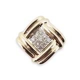 Vintage 14k Yellow Gold 0.27ct Diamond Set Sliding Pendant Val $2605
