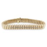 A Vintage 1.26ct Diamond Set 14K Gold Articulated Bracelet 18cm 39.6g Val $9360