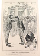 "RARE 1904 THE BULLETIN NEWSPAPER SYDNEY ""PHIL MAY IN AUSTRALIA"" LARGE CARTOON 11"