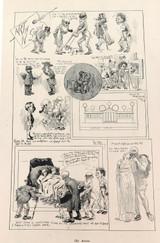"RARE 1904 THE BULLETIN NEWSPAPER SYDNEY ""PHIL MAY IN AUSTRALIA"" LARGE CARTOON 15"