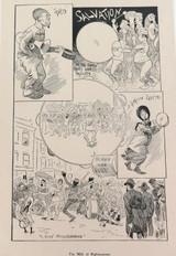 "RARE 1904 THE BULLETIN NEWSPAPER SYDNEY ""PHIL MAY IN AUSTRALIA"" LARGE CARTOON 18"
