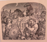 """1865 SUPERB MATTED ENGRAVED BOOK PLATE ex """"LAYS OF THE SCOTTISH CAVALIERS"""" #1"""