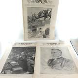 3 x 1900 THE GRAPHIC ILLUSTRATED NEWSPAPER. BOER WAR, BOXER REV, MANCHURIA ETC