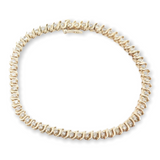 Classic 1.68ct Diamond Set 14K Gold Tennis Bracelet 20.5cm Long Val $5370