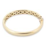 Vintage Italian 18K Yellow Gold 0.42ct Diamond Hinged Bangle 43.40g Val $12700
