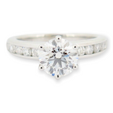 Tiffany & Co 1.57 cttw G VVS2 Diamond Set Platinum Ring Size J1/2 Val $31900 GIA