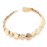 Beautiful 14ct Yellow Gold Sea Shell & Sand Dollar Articulated Bracelet 19g