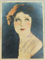 1920s USA MOVIE STUDIO LARGISH PROMOTIONAL CARD. SILENT MOVIE STAR IRENE RICH.