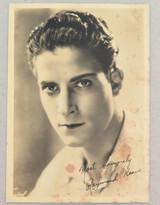 1920s MOVIE STUDIO PROMOTIONAL PHOTOGRAPH CARD SILENT MOVIE STAR RAYMOND KEANE.