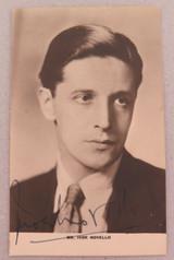 1920s MOVIE STUDIO PROMOTIONAL PHOTOGRAPH CARD SILENT MOVIE STAR IVOR NOVELLO