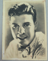 1920s MOVIE STUDIO PROMOTIONAL PHOTOGRAPH CARD SILENT MOVIE STAR GEORGE J LEWIS