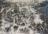 WW1 RARE AERIAL PHOTO OF THE DEVASTATION OF NOYON, FRANCE.