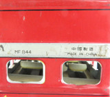 VINTAGE UNBRANDED LARGE CHINESE TINPLATE FRICTION 48 EXPRESS DOUBLE DECKER BUS.