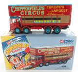 1994 CORGI CLASSICS CHIPPERFIELDS CIRCUS 97896 AEC POLE TRUCK + BOX + COA