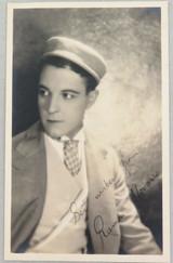 1920s MOVIE STUDIO PROMOTIONAL PHOTOGRAPH CARD SILENT MOVIE STAR RAMON NOVARRO