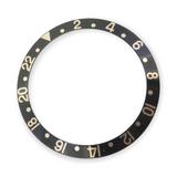 Vintage Genuine Rolex GMT Black Bezel Insert - 16713 16718