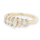Vintage 14ct Yellow Gold 0.75ct Marquise Diamond Ring Size K Val $2490