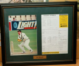 1997 IAN HEALY MAN OF THE MATCH SIGNED DISPLAY WITH COA. ASHES TOUR OF ENGLAND.