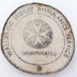 Incredibly rare c1950's Wallaroo Jubilee Ambulance Service Inc small patch