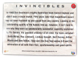 1998 Don Bradman / 1948 Invincibles ACB / Select Australia card. Variation #1