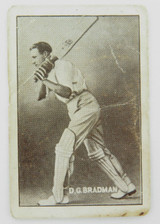 "C 1936 super rare Don Bradman card. Griffiths Bros "" All Sports Use - Black Crow"""