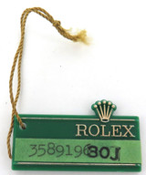 SCARCE 1972 OBSOLETE / OLD STYLE ROLEX DATEJUST 30J GREEN TAG.