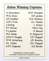 "c1992 SCARCE DON BRADMAN TRADING CARD. ""ASHES WINNING CAPTAINS"" PROMOTIONAL CARD"