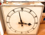 c1950s MASSIVE DOUBLESIDED ELECTRIFIED RAILWAY STATION BUSINESS COMMERCIAL CLOCK