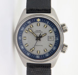 Vintage 69 Girard Perregaux Gyromatic Ladies Steel Compressor watch Box & papers