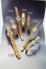 1990 SCARCE ROLEX BROCHURE LADIES 14kt & 18kt GOLD, DIAMOND WATCHES & BRACELETS.