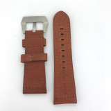 BRAND NEW HEAVY DUTY TAN BROWN GENUINE LEATHER TAPERING 26MM BAND